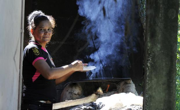 To cook tortillas you spend a lot of time with smoke in your face.