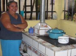 Could she be happier with her stove?