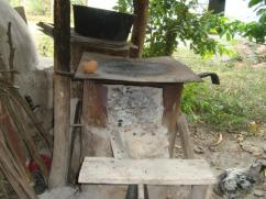 This stove looks more like a fireplace than a place to cook food.